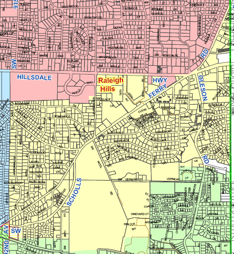 Map of the Raleigh Water District